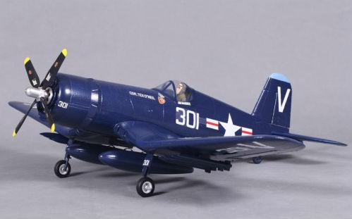 Самолет FMS Mini Chance Vought F4U Corsair 800 мм 3X 2.4GHz RTF c 3-х осевым гироскопом