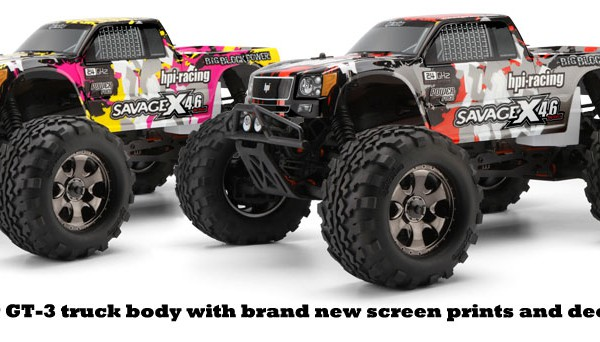 Автомобиль HPI Savage X 4.6 Nitro GT-3 4WD 1:8 2.4 GHz (Yellow/Pink RTR Version) 105644 (105645)