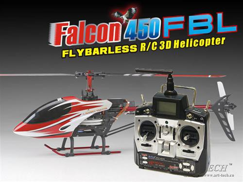 Вертолет Art-Tech Falcon 450 FBL 2.4GHz (RTF) AT12201