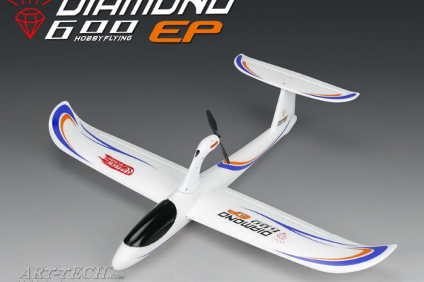 Планер Art-Tech Diamond 600 EP Glider 2.4GHz (RTF) AT22171