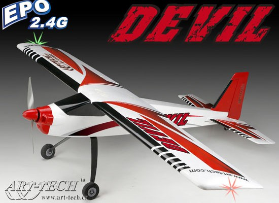 Самолет Art-Tech Devil 500 Class Aerobatics 2.4GHz (RTF) 22137
