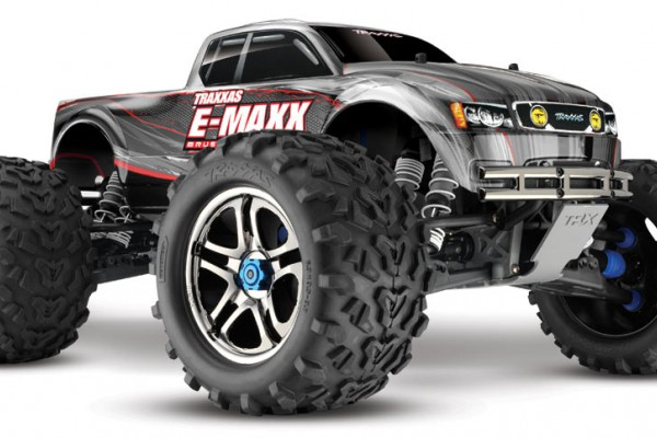 Автомобиль Traxxas E-Maxx Brushless 4WD 1:10 EP TQi 2.4Ghz (RTR Version) 3908 Silver