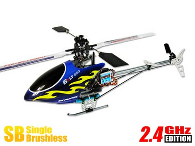 Вертолет Skyartec WASP V4 Belt 250P 3D 2.4 GHz в кейсе (Blue RTF Version) HWH05-1 Синий