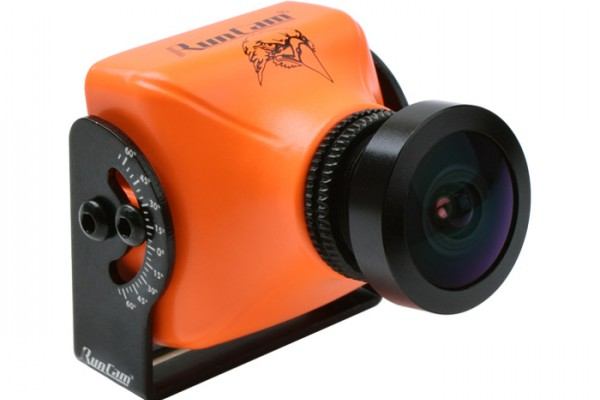 "RunCam Eagle (Orange) 800TVL 4:3 Global WDR 5-17V 1/1.8"" CMOS FPV Camera"