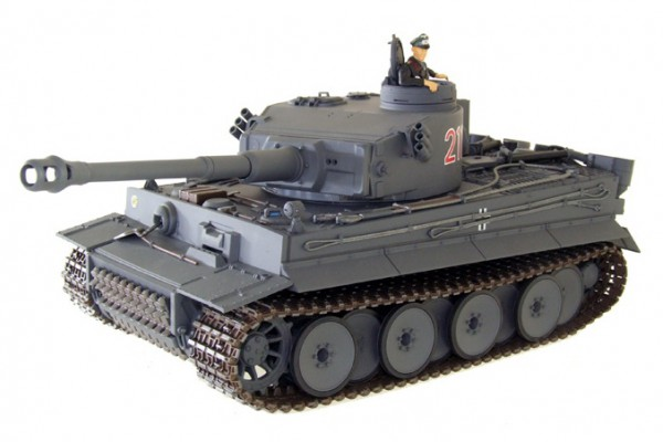 Танк VSTANK PRO German Tiger I EP 1:24 Airsoft (Grey RTR Version) A02102882 серый