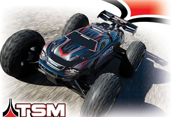Автомобиль Traxxas E-Revo Brushless Monster 1:10 RTR 582 мм TSM 4WD 2,4 ГГц TQi (56087-3) Серебрянный