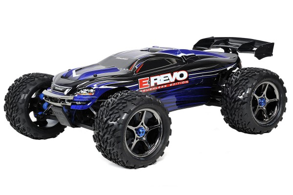 Автомобиль Traxxas E-Revo Brushless Monster 1:10 RTR 582 мм TSM 4WD 2,4 ГГц TQi (56087-3) Синий