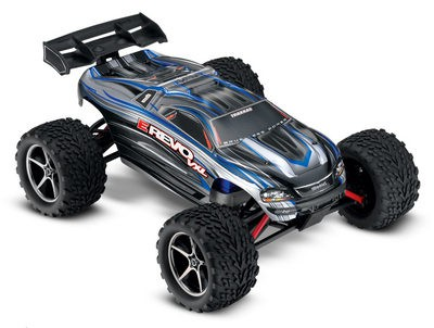 Автомобиль Traxxas E-Revo VXL Brushless 4WD 1:16 2.4Ghz (RTR Version) 7107 Silver