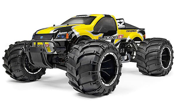 Автомобиль Maverick Blackout MT 1:5 Монстр 4WD 2.4GHz Бензин Жёлтый RTR