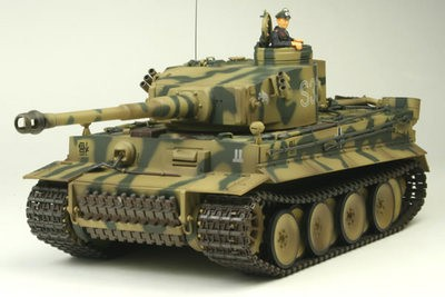 Танк VSTANK PRO German Tiger I LP 1:24 IR (Camouflage RTR version) A02104718 хаки