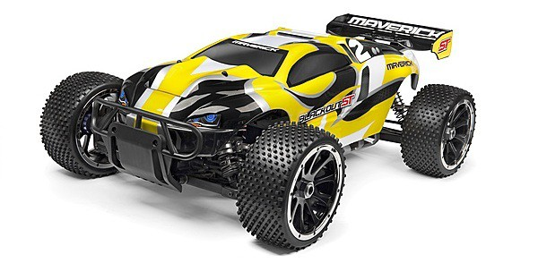 Автомобиль Maverick Blackout ST 1:5 Трагги 4WD 2.4GHz Бензин Жёлтый RTR