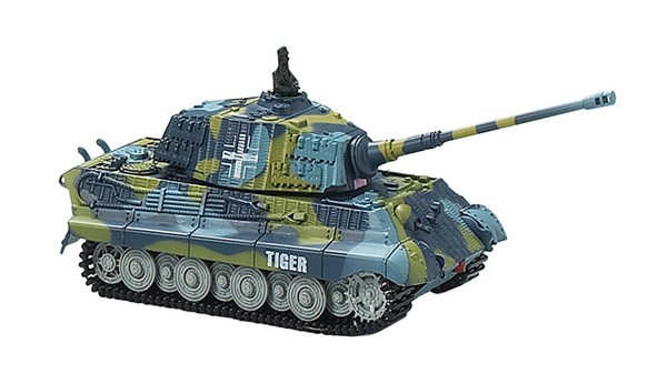 Танк Great Wall Toys King Tiger 1:72 со звуком 40MHz (2203-3) Синий
