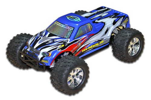 Автомобиль BSD Racing Monster Truck 4WD 1:10 2.4GHz EP (Blue RTR Version) BS706T Blue