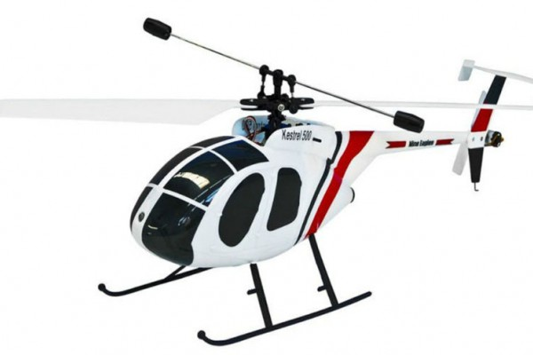 Вертолёт Nine Eagles Kestrel 500 SX 2.4 GHz (White-Red RTF Version) (NE R/C 218A) NE30221824220 Бело-красный