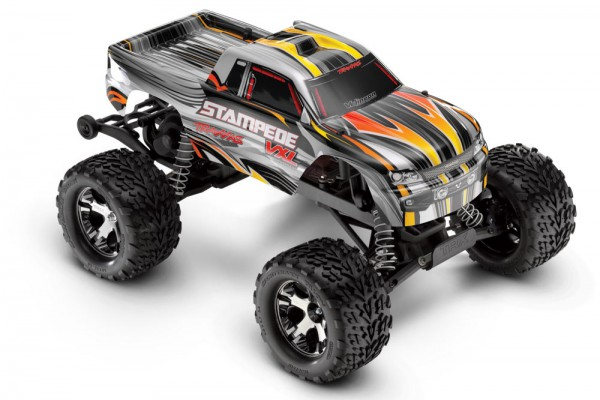 Автомобиль Traxxas Stampede VXL Brushless 2WD 1:10 EP 2.4Ghz ( RTR Version) 3607 Silver