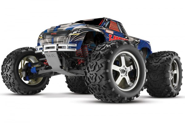 Автомобиль Traxxas T-Maxx 3.3 Nitro 4WD 1:10 2.4Ghz (RTR Version) 4907 Blue