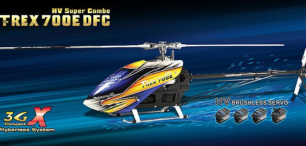 Вертолет Align T-REX 700E DFC HV Super Combo RC (KIT Version) KX018E15
