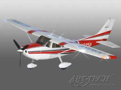 Самолет Art-Tech Cessna 182 500CL 2.4GHz (RTF Version) 21271 Бело-красный