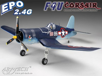 Самолет Art-Tech F4U Corsair 200CL 2.4GHz (RTF Version) 21451 Синий