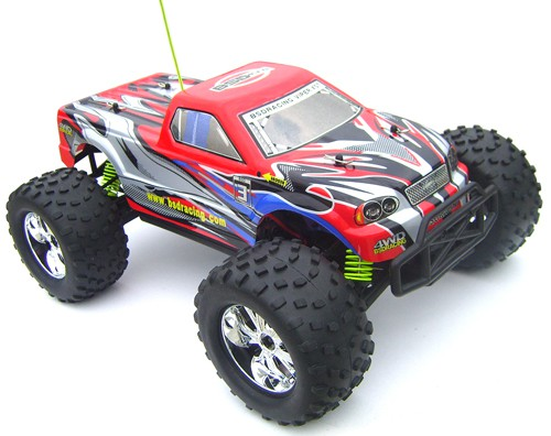 Автомобиль BSD Racing Monster Truck 4WD 1:10 2.4Ghz EP (Red RTR Version) BS706T Red