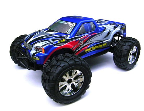 Автомобиль BSD Racing Brushless Monster Truck 4WD 1:10 2.4GHz EP (RTR Version) BS909T Blue