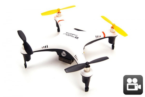 Квадрокоптер Nine Eagles Galaxy Visitor 2 RTF 2.4GHz S-FHSS с камерой (NE R/C MASF11) NE201455 Бело-Черный