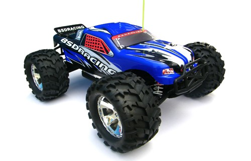 Автомобиль BSD Racing Brushless Monster Truck 4WD 1:8 2.4GHz EP (Blue RTR Version) BS808T Blue