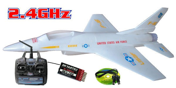 Самолет Skyartec F16 RTF Brushless LI-PO 2.4GHz (RTF Version) AP05-2 Белый