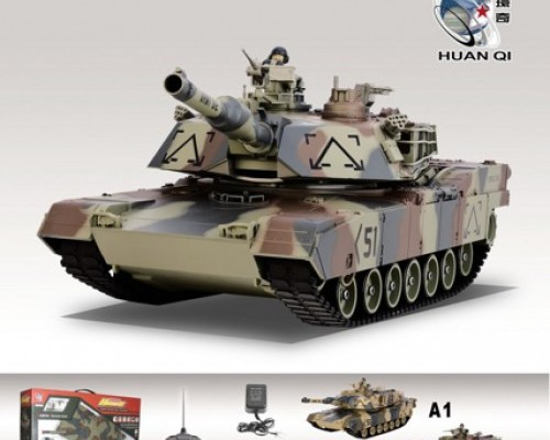 Танк Huan Qi M1A2 Abrams 1:24 Airsoft (Camouflage A1 RTR version) 781-10 Камуфляж A1