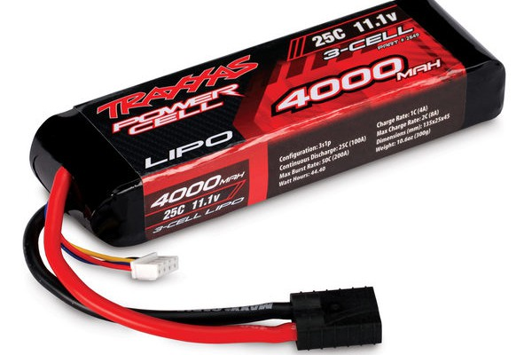 Аккумулятор Traxxas Li-Po Battery 11.1V 4000mAh 3S1P 25C Hard Case (TRX2849)