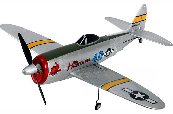 Самолет Nine Eagles P-47 Thunderbolt 2.4 GHz  (RTF Version) NE30277824214001A (NE R/C 778B) Серебристый