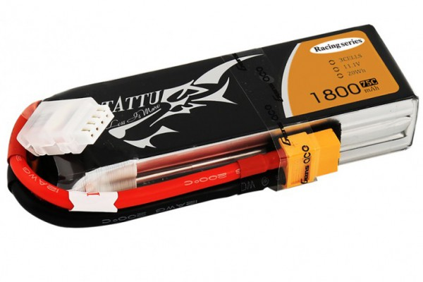 Аккумулятор Gens Ace Tattu Li-Po 11.1V 1800 mAh 3S 75C Racing