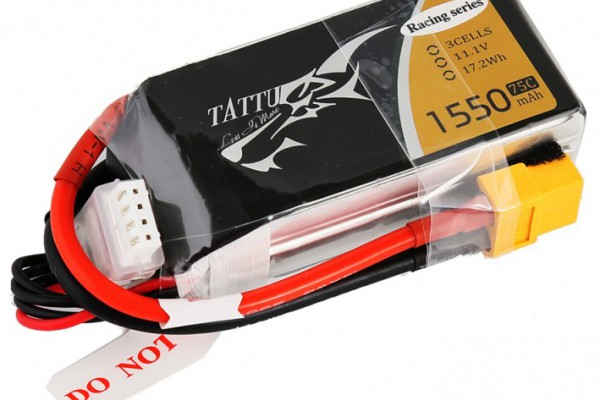 Аккумулятор Gens Ace Tattu Li-Po 11.1V 1550 mAh 3S 75C Racing