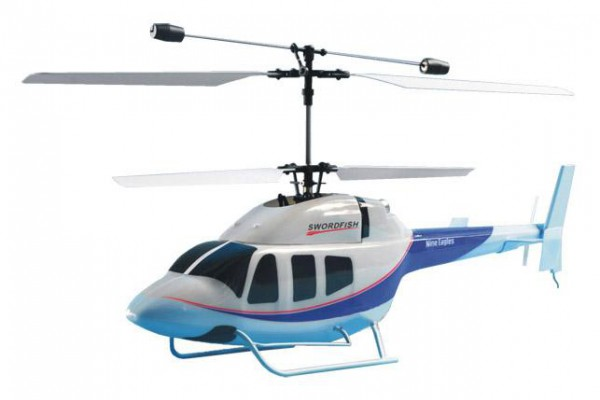 Вертолет Nine Eagles Swordfish SX 2.4 GHz (White-Blue RTF Version) NE30221924204 Бело-синий