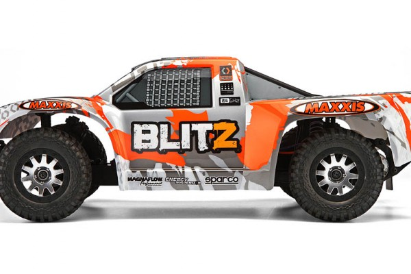 Автомобиль HPI Blitz Scorpion 2WD 1:10 EP 2.4GHz (Silver/Orange RTR Version) 105833 White/Orange/Silver