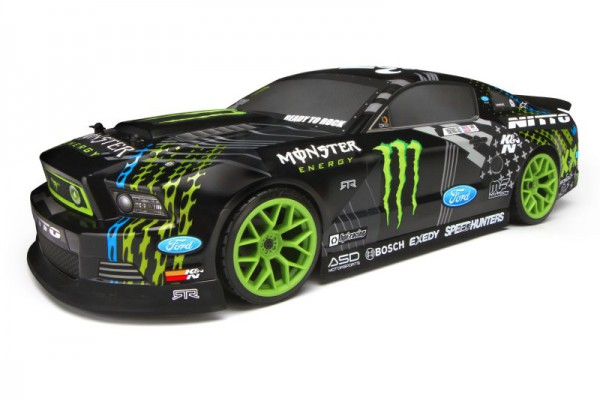 Автомобиль HPI E10 Drift 2013 Mustang Monster Energy/NITTO 4WD 1:10 2.4 GHz (RTR) 111664
