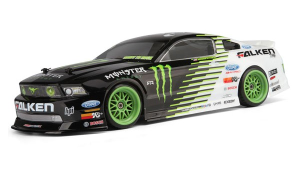 Автомобиль HPI E10 Drift 2011 Falken Monster Mustang 4WD 1:10 EP 2.4 GHz (RTR Version) 105945