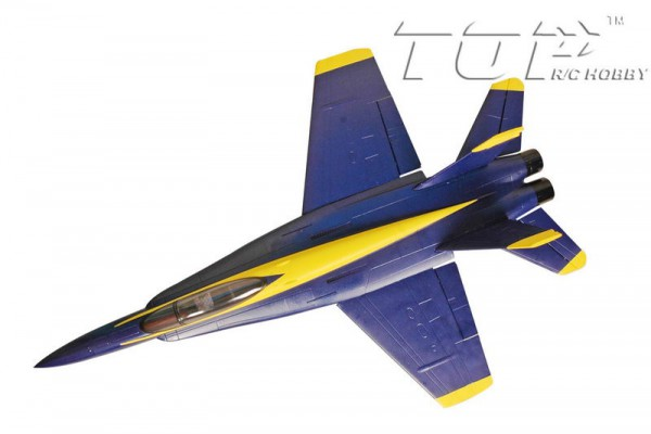 Самолет TOP RC F-18 V1 686мм 2.4GHz PNP (TOP008B) Cиний