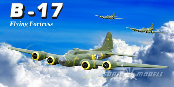Самолет SonicModell B-17 Flying Fortress 1875мм 2.4GHz PNP Зеленый