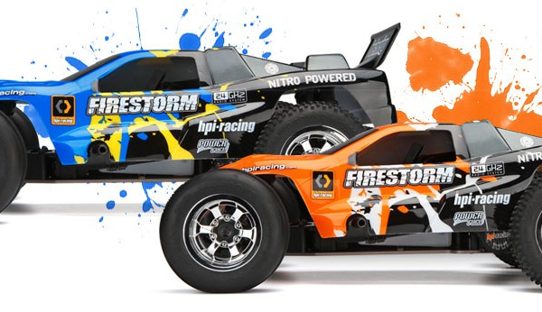Автомобиль HPI Firestorm 10T Nitro DSX-1 2WD 1:10 2.4GHz (Fire RTR Version) 105865 (105866)