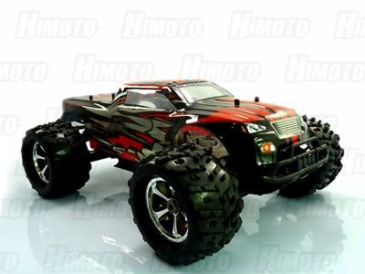 Автомобиль Himoto MegaE8MTLr - Монстр 1:8 Raider MegaE8MTL Brushless (Красный)