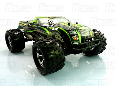 Автомобиль Himoto MegaE8MTLg - Монстр 1:8 Raider MegaE8MTL Brushless (Зелёный)